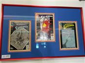 The Death of Superman Trilogy Framed and Matted